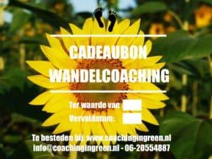 Cadeaubon Wandelcoaching