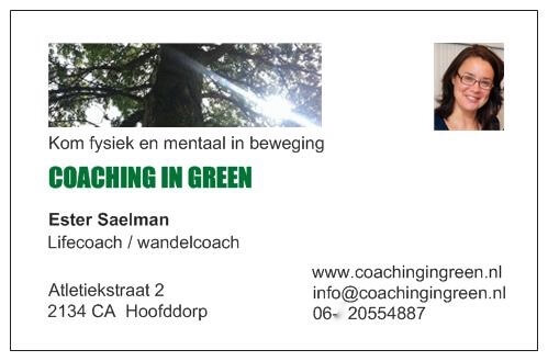 visitekaartje Coaching In Green