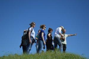 groep mensen op excursie