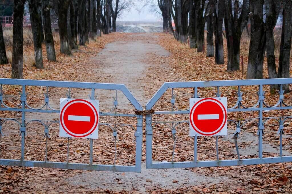 hek verboden toegang